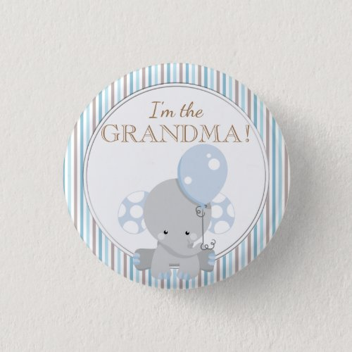 Custom Baby Shower Party IM THE GRANDMA Button