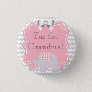 Toddler & Baby themed Custom Baby Shower Party I'm the Grandma Button