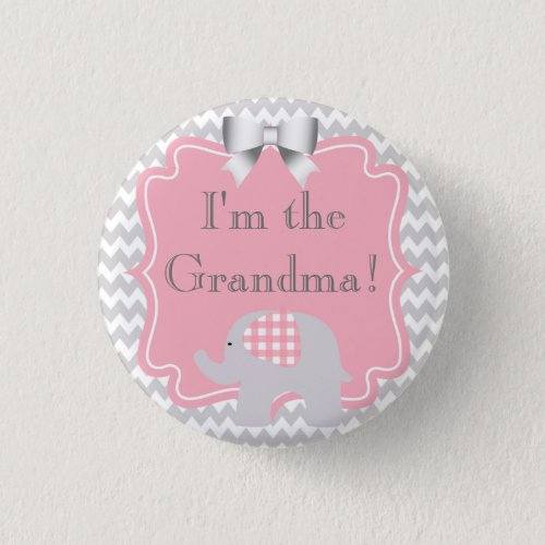 Custom Baby Shower Party Im the Grandma Button