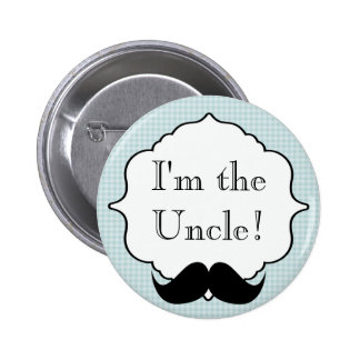 Custom Baby Shower Party I'm the Uncle Button