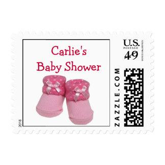 Custom baby shower postage for girl