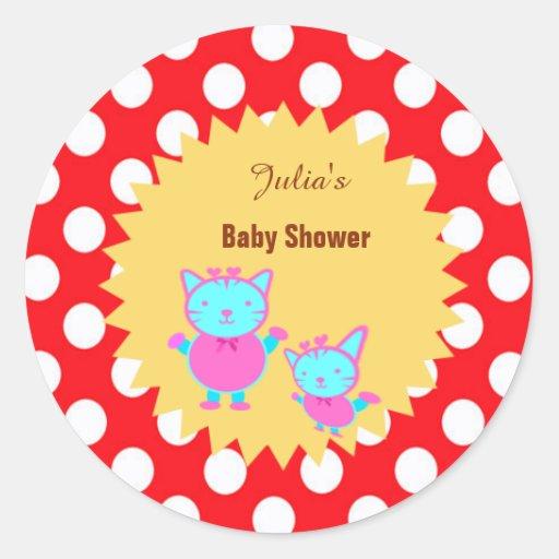 custom baby shower sticker tags zazzle