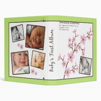 Custom Baby's First Album :: Lime Cherry Blossom Binder