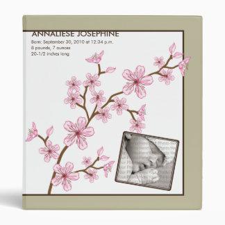 Custom Baby's First Album :: Sepia Cherry Blossom Binder