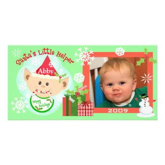 Custom Baby's First Christmas Photo Card