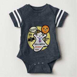 Custom Baby's First Halloween Football Bodysuit