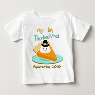Custom Baby's First Thanksgiving T-Shirt