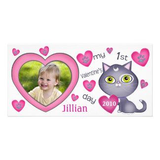 Custom Baby's First Valentine's Day Photo Card