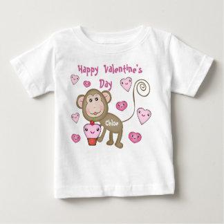 Custom Baby's Valentine's Day Monkey T-Shirt