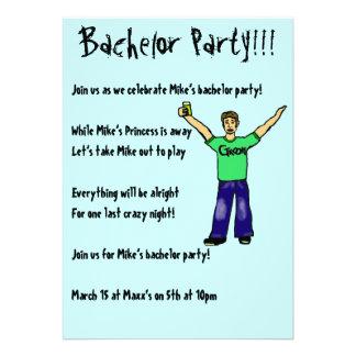 Custom Bachelor Party!!! Invitations