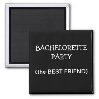 Custom Bachelorette Party ID Button 2 Inch Square Magnet
