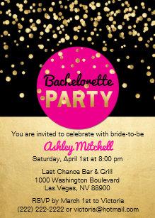 Bachelorette party invitations zazzle custom bachelorette party invitations templates maxwellsz
