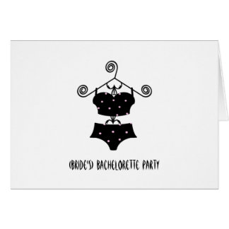 Custom Bachelorette Party Invite-Sexy Lingerie Greeting Card