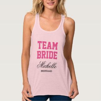 Custom bachelorette tank tops for team bride