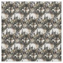 Custom back Color Wolf Mountain Animal Nature Art Fabric