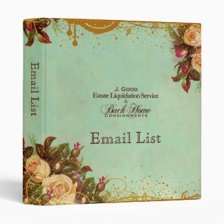 Custom Back Home Consignment Victorian Rose Vinyl Binders