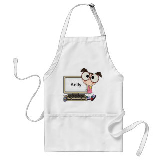 Custom Back To School Supplies Adult Apron