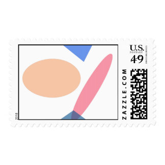 Custom Background Color Baseball Postage