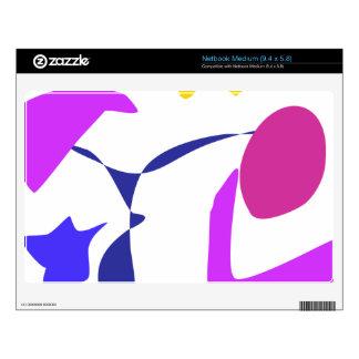 Custom Background Color Blue Star Skin For Netbook