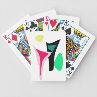 Custom Background Color Dance Bicycle Poker Cards
