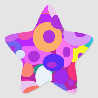 Custom Background Color Floating Circles Star Stickers