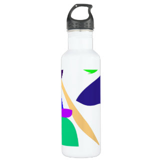 Custom Background Color Free Circle 24oz Water Bottle