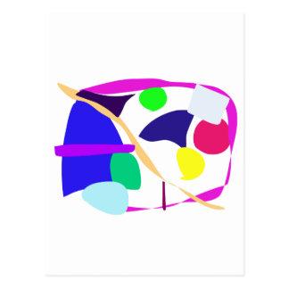 Custom Background Color Free Circle Postcard