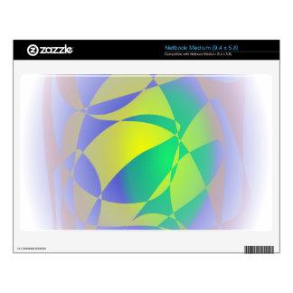 Custom Background Color Green Planet Medium Netbook Decals
