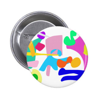 Custom Background Color Joy Pinback Button