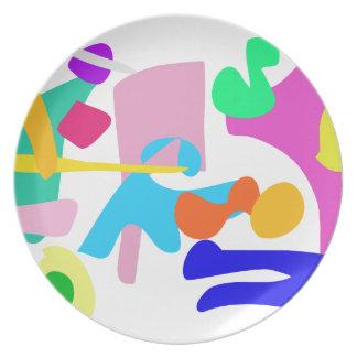 Custom Background Color Joy Dinner Plate