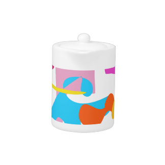 Custom Background Color Joy Teapot