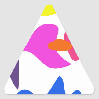 Custom Background Color Laid Flower Triangle Stickers