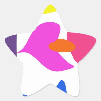 Custom Background Color Laid Flower Star Sticker