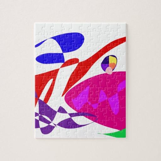 Custom Background Color Magic Jigsaw Puzzle
