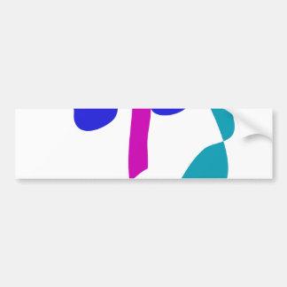 Custom Background Color Moon Through the Window Bumper Sticker