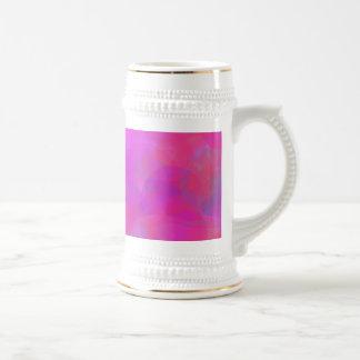 Custom Background Color Pink Cloud Beer Stein