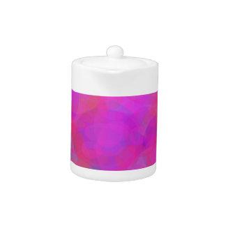 Custom Background Color Pink Cloud Teapot