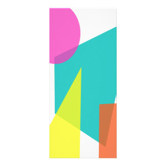 Custom Background Color Rack Card