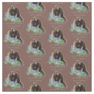 Custom Background Color Rock Climbing Marmot Quote Fabric