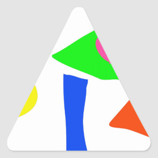 Custom Background Color Shapes Triangle Stickers