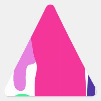 Custom Background Color Telephone Triangle Sticker