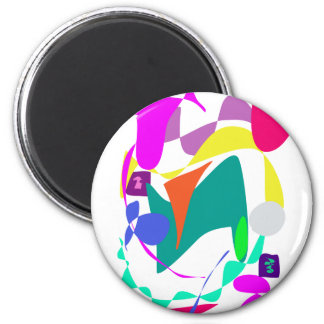 Custom Background Color Unchained Refrigerator Magnet