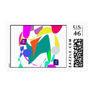 Custom Background Color Unchained Postage Stamps