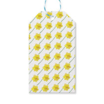 Custom background color - yellow daffodil flower gift tags