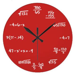 CUSTOM BACKGROUND - Math Chalkboard Wall Clock