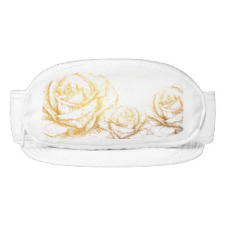 Custom Background Vintage Roses Floral Faux Gold Visor
