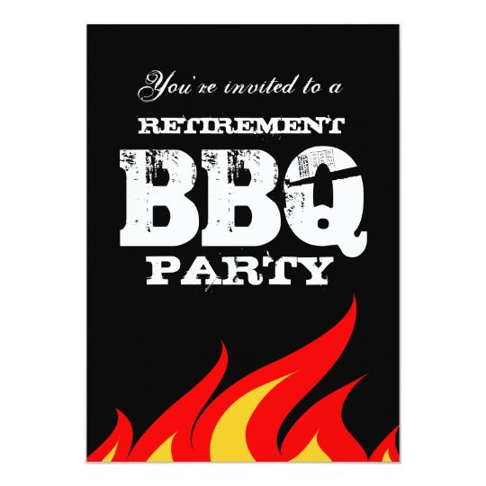 custom backyard bbq retirement party invitations | zazzle, Party invitations