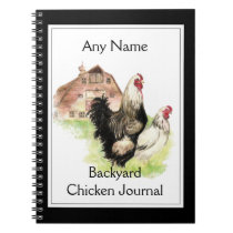 Custom Backyard Chicken Journal Watercolor