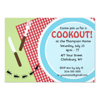 Custom Backyard Cookout Card