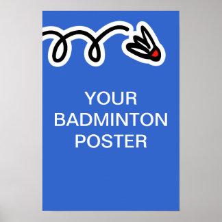 Custom badminton poster print
